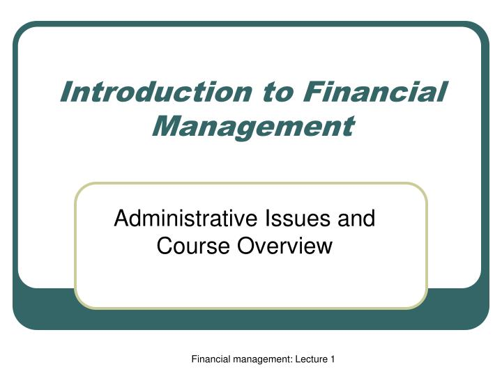 hsm310 introduction to health services management course project