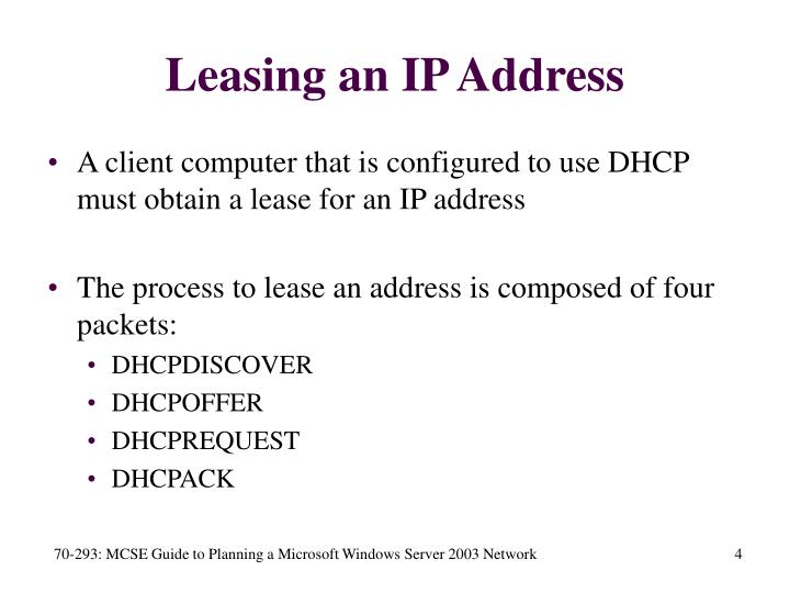 Leasing an IP Address