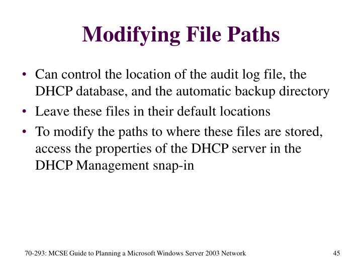 Modifying File Paths