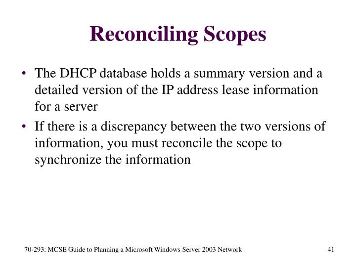 Reconciling Scopes