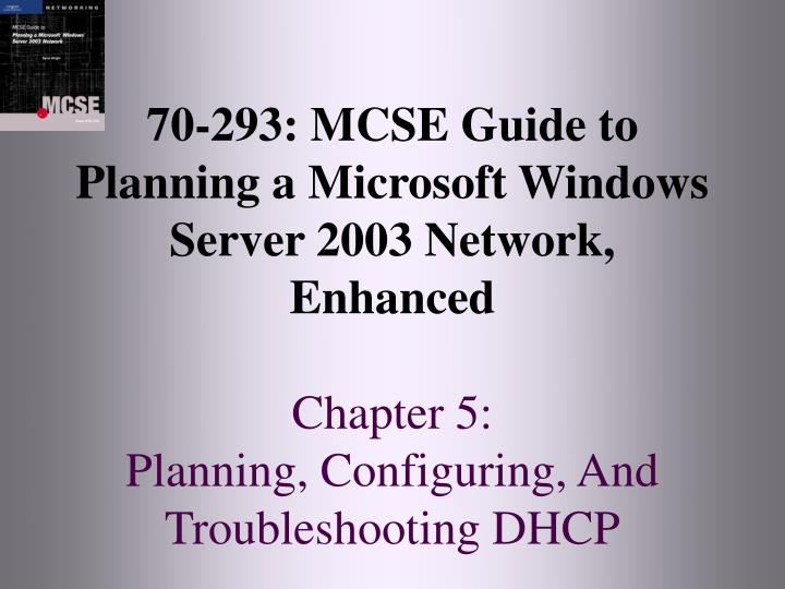 70-293: MCSE Guide to
