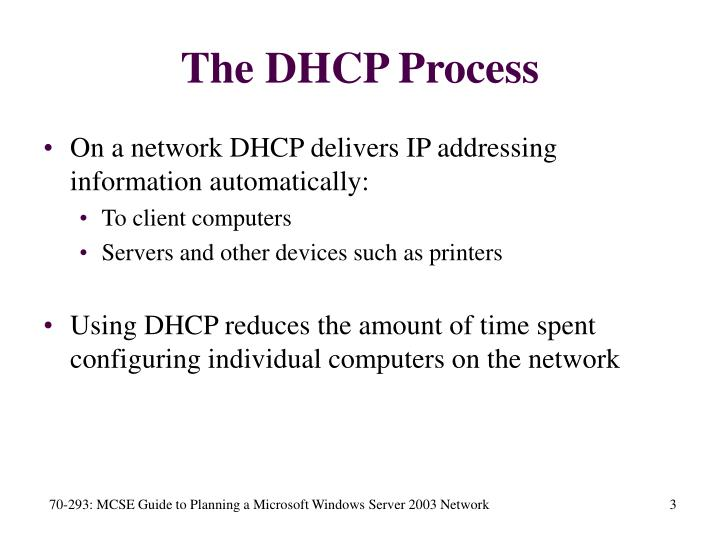 The DHCP Process