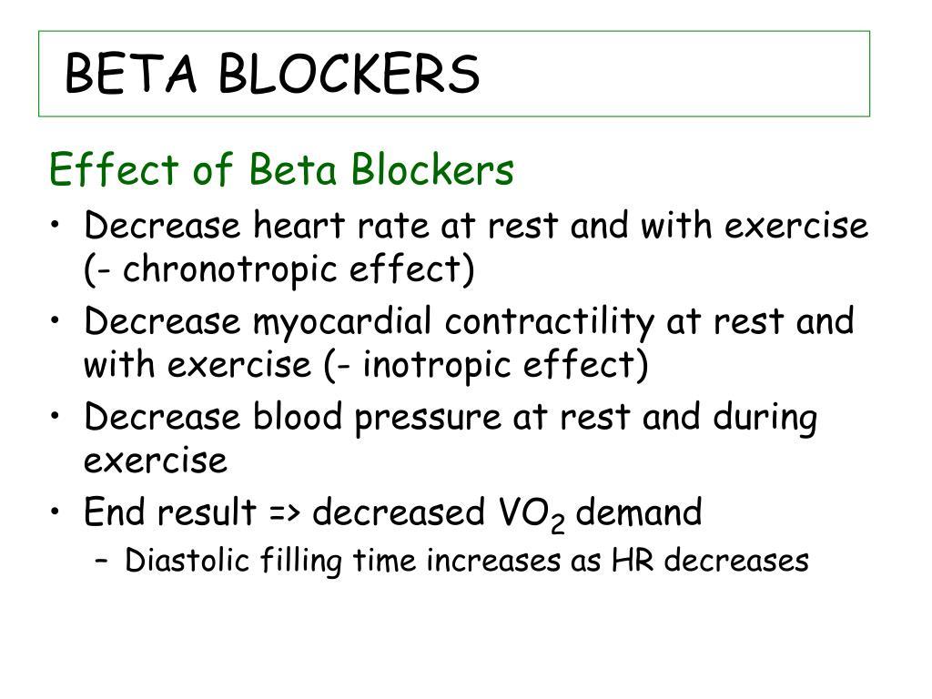 BETA BLOCKERS