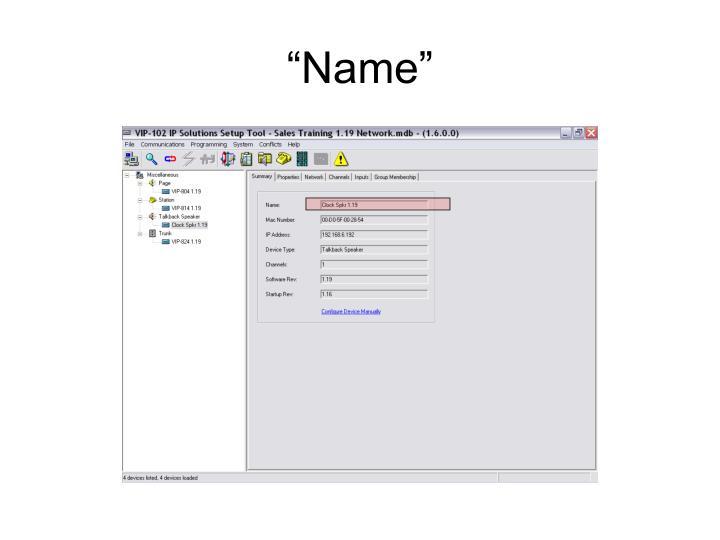 """""""Name"""""""