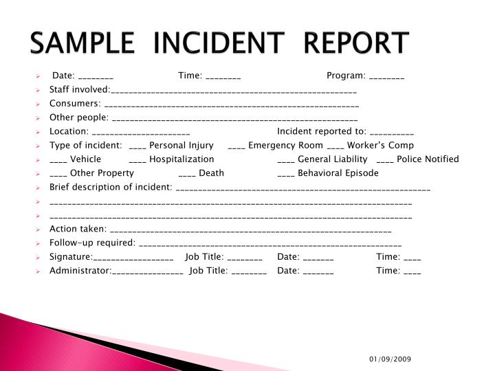 Ppt - Incident Documentation & Reporting Powerpoint Presentation