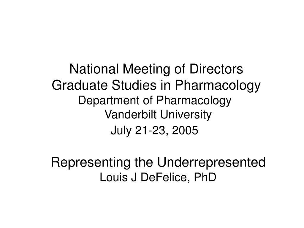 National Meeting of Directors