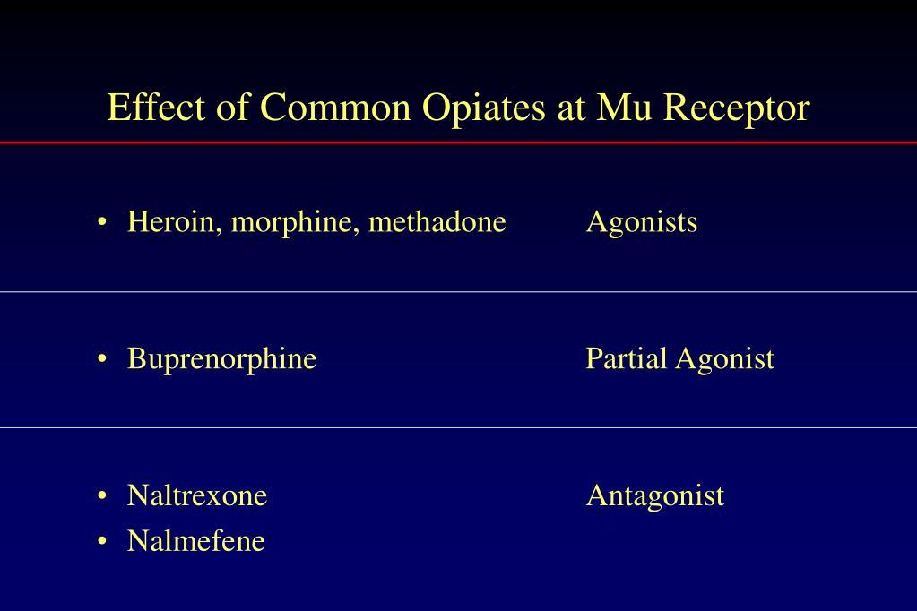 Heroin, morphine, methadone