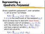 representing a quadratic polynomial