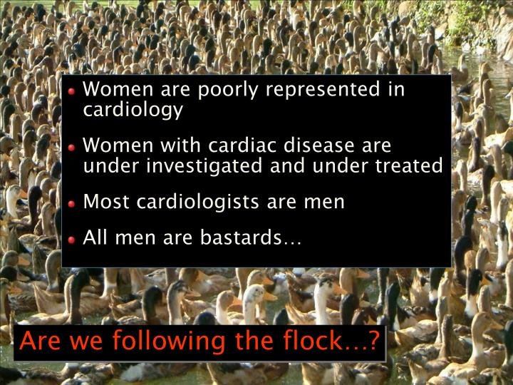 Women are poorly represented in cardiology
