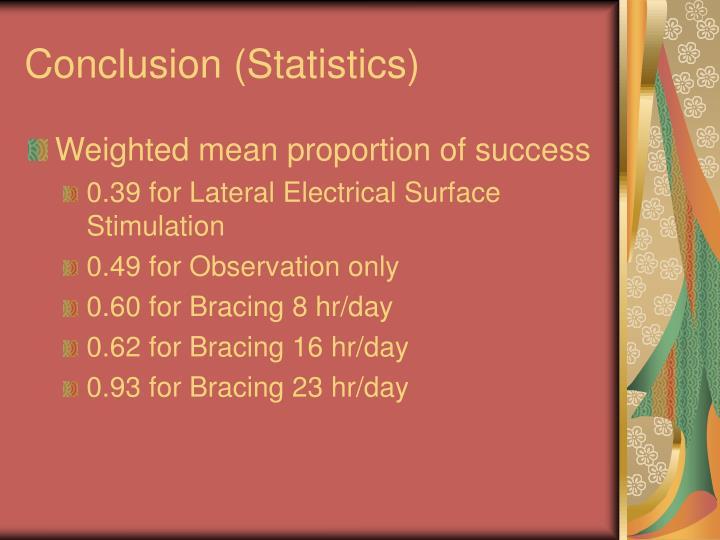 Conclusion (Statistics)