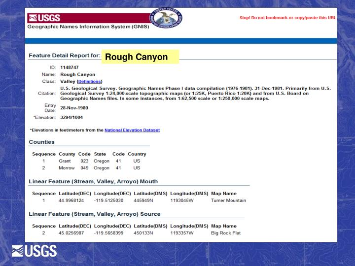 Rough Canyon