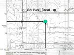 user derived location