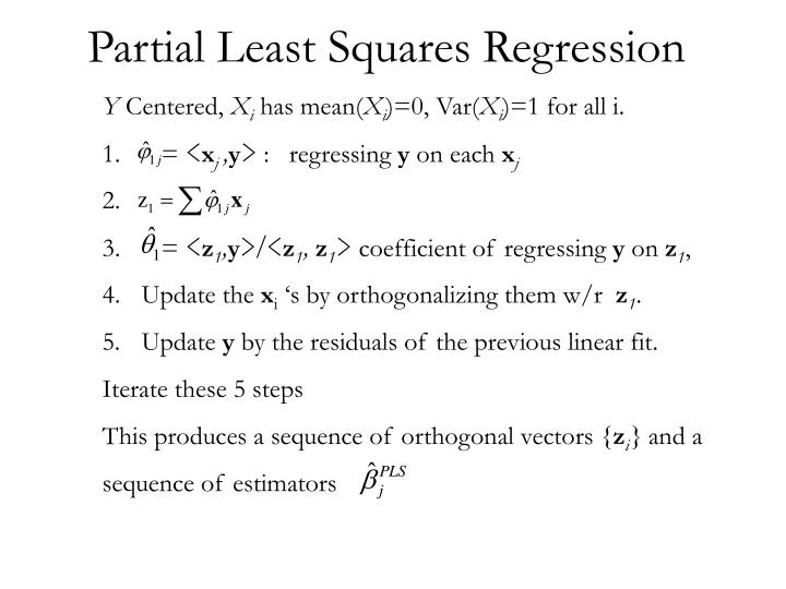 Partial Least Squares Regression