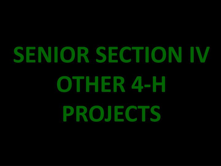 SENIOR SECTION IV