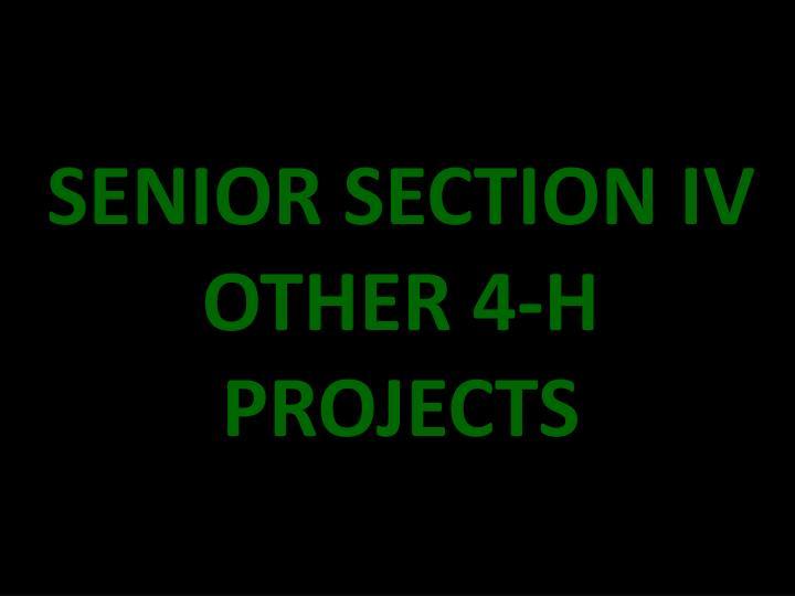 SENIOR SECTION IV