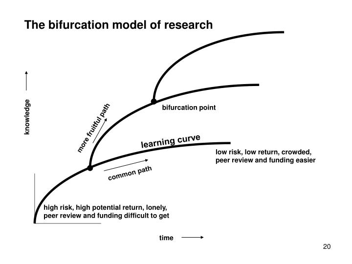 The bifurcation model of research