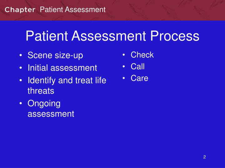 Patient assessment process