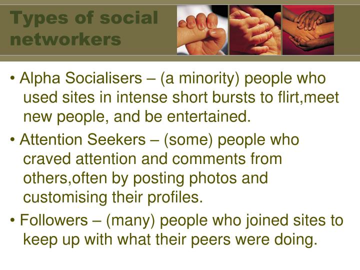 Types of social networkers