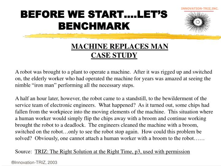 BEFORE WE START….LET'S BENCHMARK
