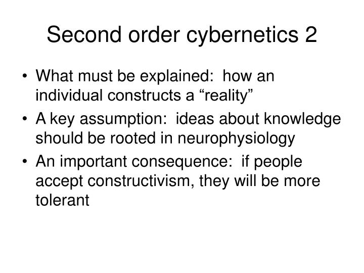 Second order cybernetics 2