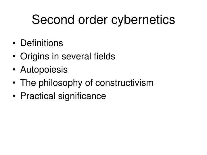 Second order cybernetics1