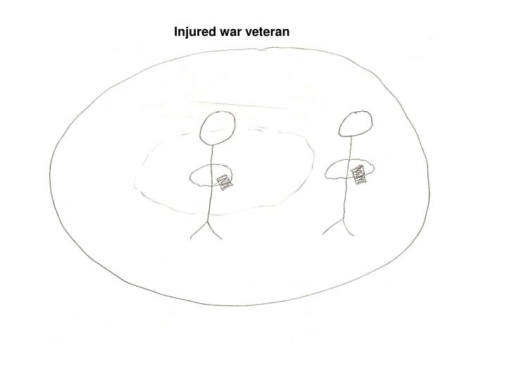 Injured war veteran