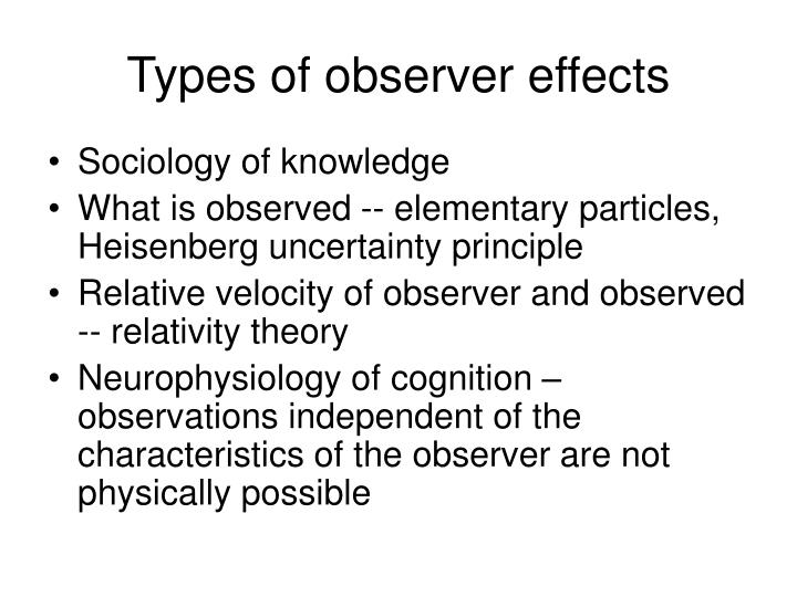 Types of observer effects