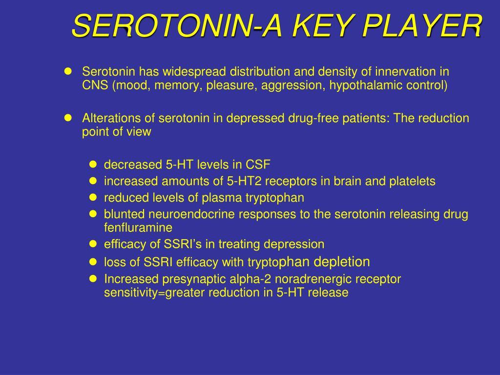 SEROTONIN-A KEY PLAYER
