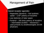 management of pain21