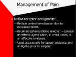management of pain30
