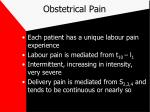 obstetrical pain