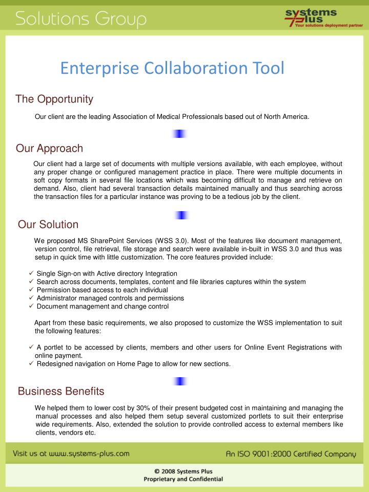 Enterprise collaboration tool