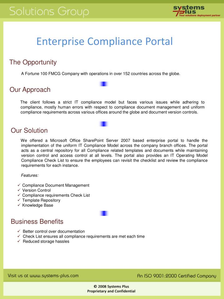 Enterprise Compliance Portal