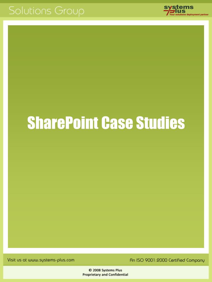 SharePoint Case Studies