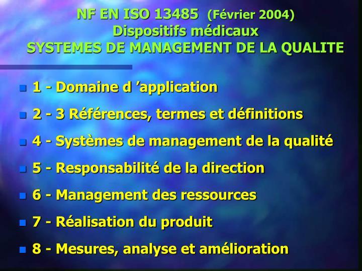 NF EN ISO 13485