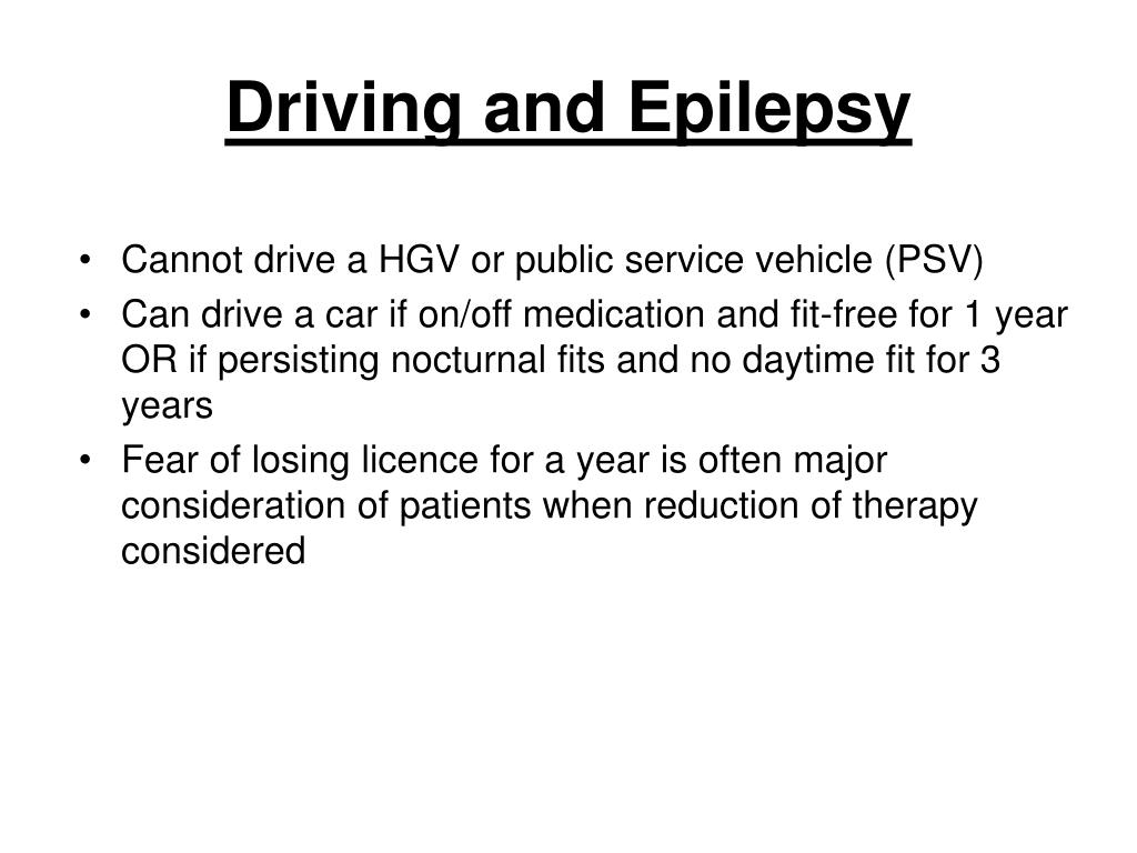Driving and Epilepsy
