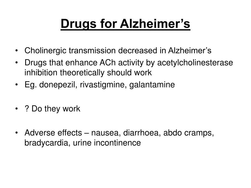 Drugs for Alzheimer's