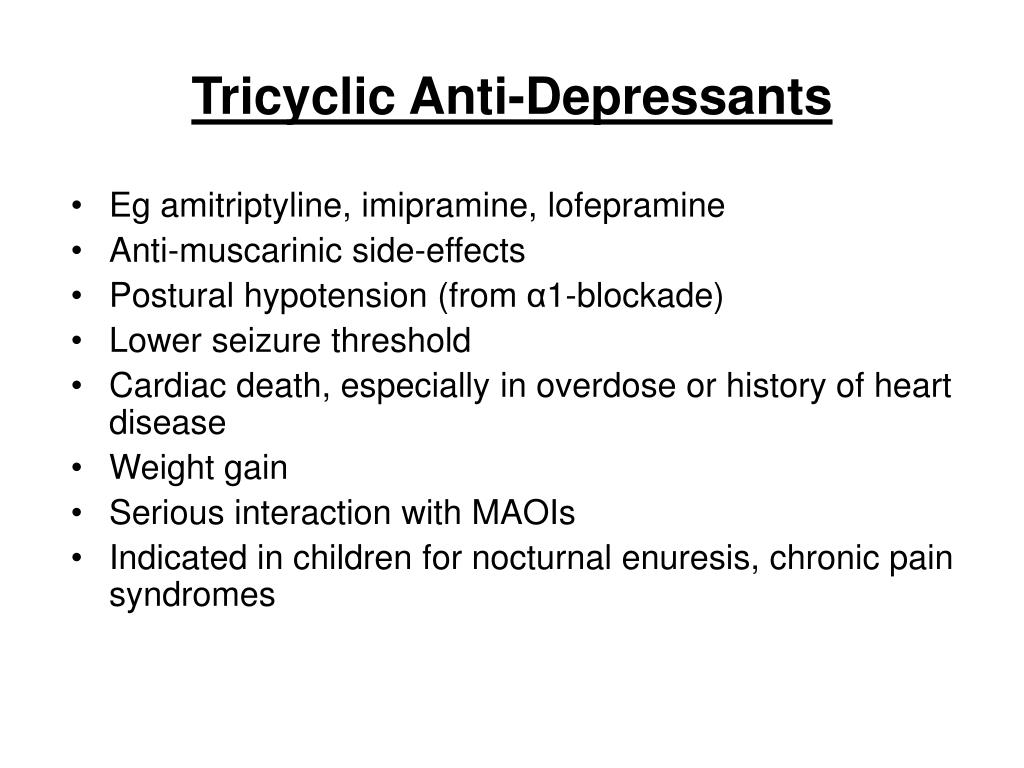 Tricyclic Anti-Depressants