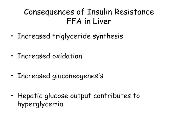 Consequences of Insulin Resistance