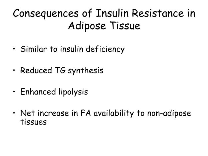 Consequences of Insulin Resistance in Adipose Tissue