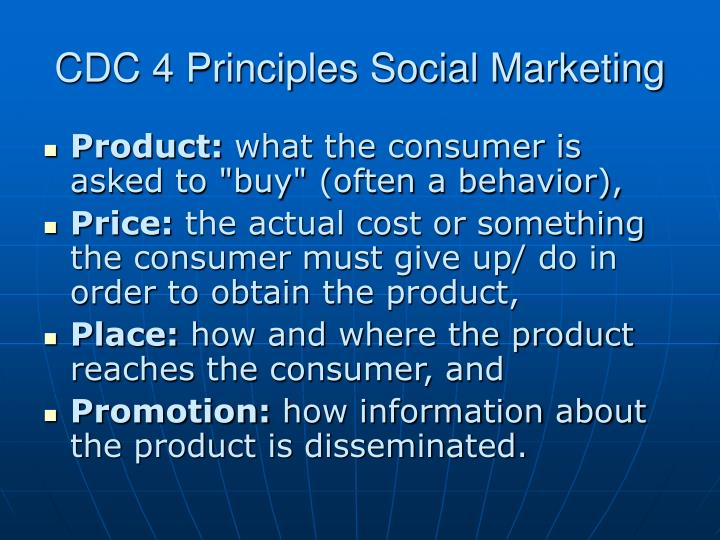 CDC 4 Principles Social Marketing