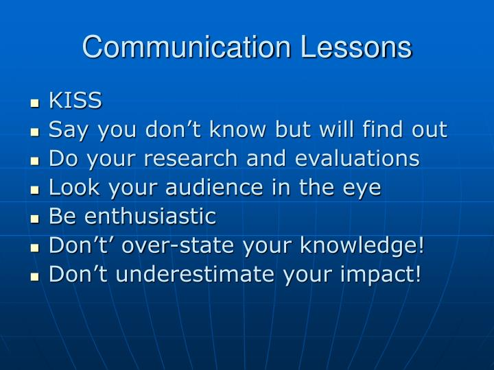 Communication Lessons