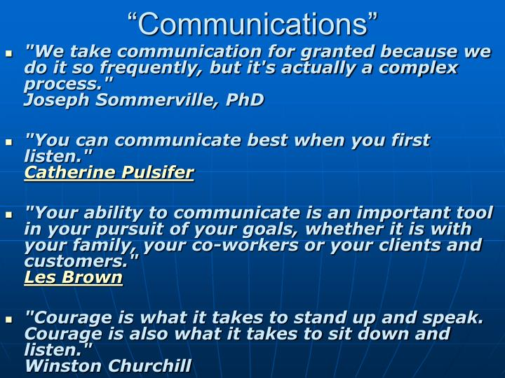 """Communications"""