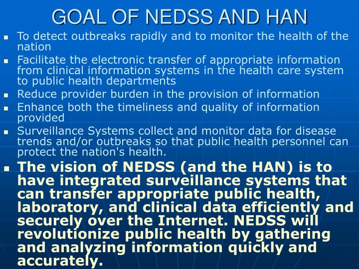 GOAL OF NEDSS AND HAN