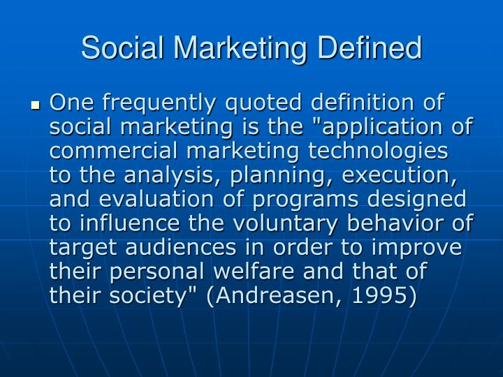 Social Marketing Defined