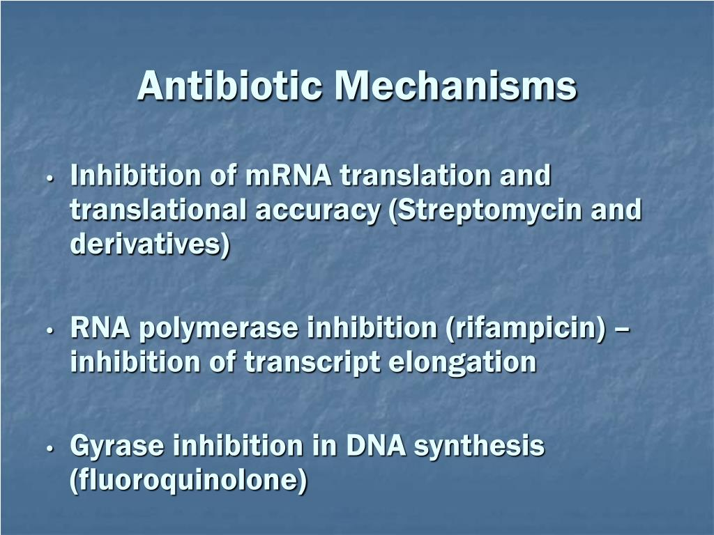 Antibiotic Mechanisms