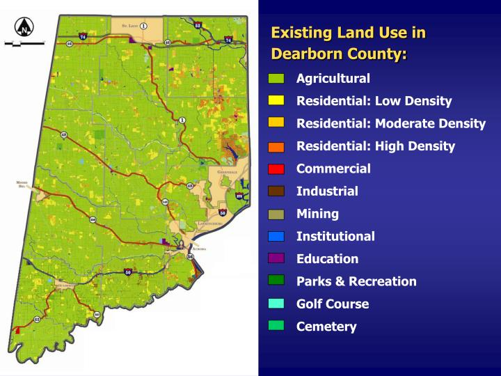 Existing Land Use in Dearborn County: