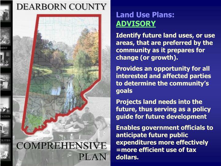 Land Use Plans:
