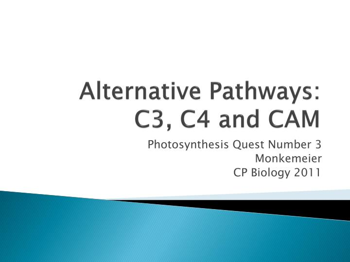 Alternative pathways c3 c4 and cam