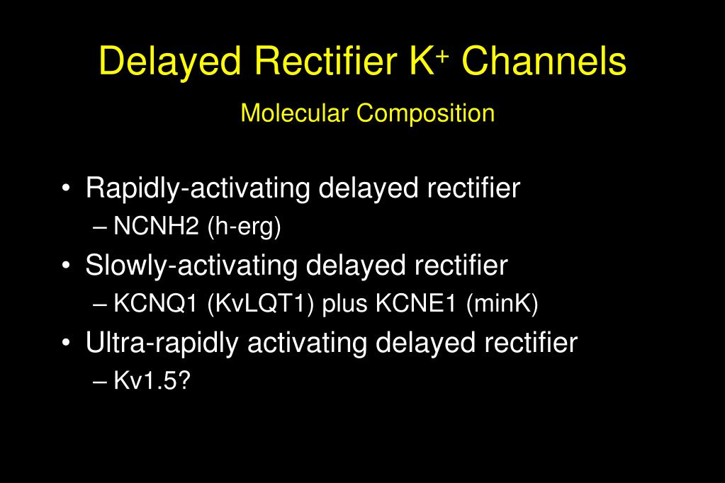 Delayed Rectifier K